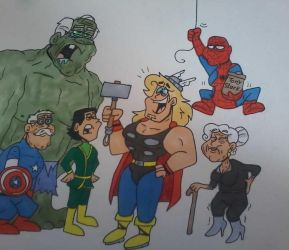 The Good Old Avengers by Cookie-Lovey