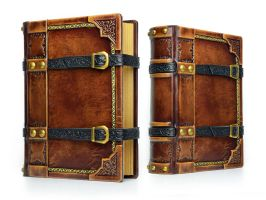 Medieval styled large leather journal... by alexlibris999