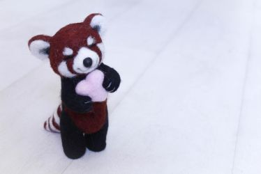 Cute Red Panda In Love by Lavenderwitch