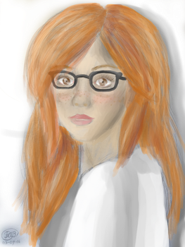 Realistic Rachelle colored by RosaPeach