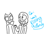 Can i won't kissing a Bendy by astya45