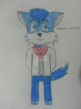 September 1st, 2017: Blue the fox (SoulzGrapes) by The-Badger-Wolf