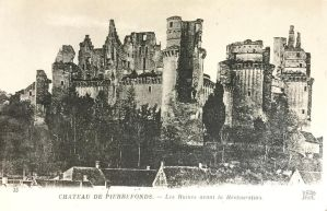 Vintage Europe - Ruins of Chateau De Pierrefonds by Yesterdays-Paper