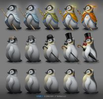 Pinguin sketches for dwar.ru by Beffana