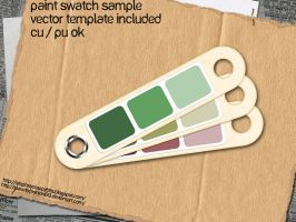 Paint Swatch Sample Template by slavetofashion69