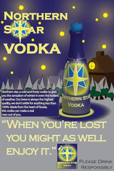 College Project: Northern Star Vodka by EvilWheatley
