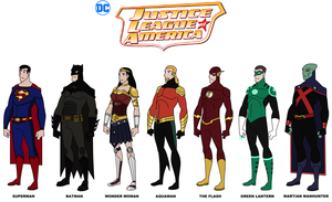 DC - JLA: The Main Seven 2015 by HewyToonmore