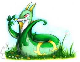 Commission - Serperior by Lurking-Leanne
