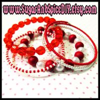 Peppermint Rave Bangles by wickedland