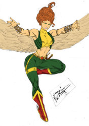 Dye-cember Challenge 28 - Hawkgirl by RBL-M1A2Tanker
