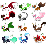 Tiny paws adoptable batch by OsayioAdopts