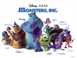 Monsters Inc. autographs by Herure