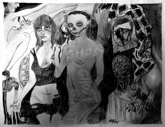 This Drawing Hangs In Satan's Throneroom by JOHNNYFB
