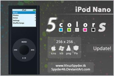 New iPod Nano -5 Colors- by Spyder46