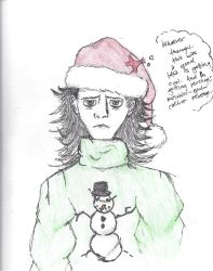 Loki in a charming Christmas Sweater and Hat. by Sparkling-Cupcake