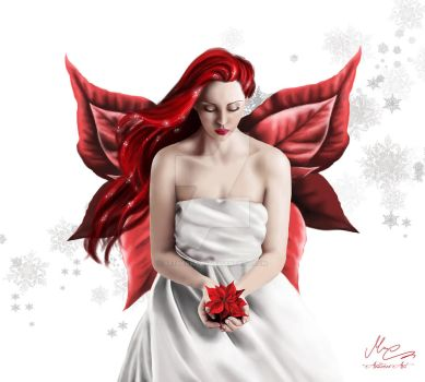 Poinsettia Fairy by AethereaVis
