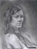 Woman in Charcoal by Chibi-Jeshi