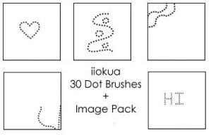 30 Dot Brushes by iiokua