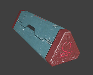 Tricontainer lowpoly model by darth-biomech
