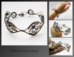 Aberfa- wire wrapped bracelet by mea00
