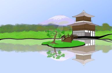 Japanese landscape by Bill-Devine