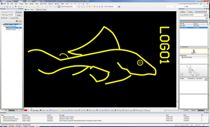 Plecostomus Logo - Altium Designer Silk Screen by dePow9999