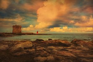 Tower Fort and Scarlet Sail by orsoinletargo