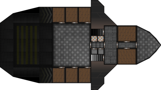Ship Layout: Free merchant 2nd Floor by Mysticara
