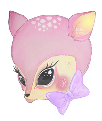 little fawn by l0ll3