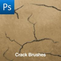Photoshop Crack Brushes by cwdigital