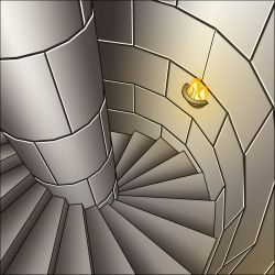 Castle Tower Stairs by Marie-August