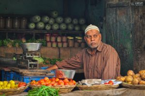 Vegetable Seller by varunabhiram