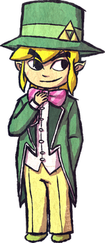 Toon Link in a Suit by Zeepla