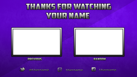 Free Youtube Outro Template (Photoshop) by DazGames