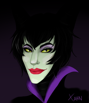 Young Maleficent Commission by McXahn