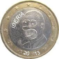 Iberian coin 1 euro (with Homer Simpson) by hosmich