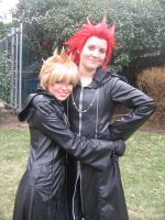 Roxas and Axel- Best Friends by SelexiaOfTheHeart