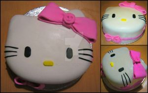 Hello kitty cake by DeliciouslyDominique