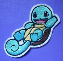 Embroidered Squirtle patch by CyanFox3