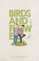 Birds and Flowers   Wattpad Cover by miserableyouth