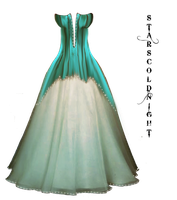 Turquoise dress by StarsColdNight
