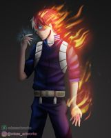 Todoroki Shouto by mkasartworks