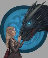 Dany And Viserion by candemarzat