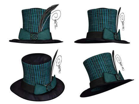 Hat Collection 14 PNG Stock by Roy3D