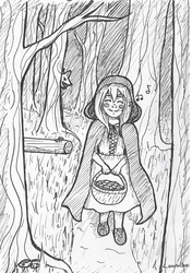 Inktober 2018 Day 1 - Little Red Riding Hood by Lauralina