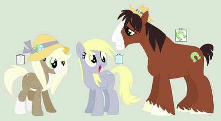 Bubble Star and Family by PrincessLunarWolf