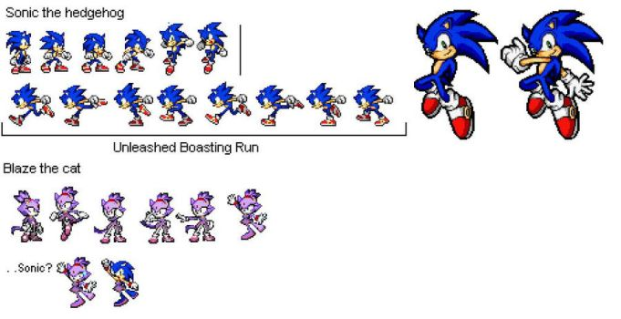 Sonic and Friends Sprite Edits by Yoshi101333
