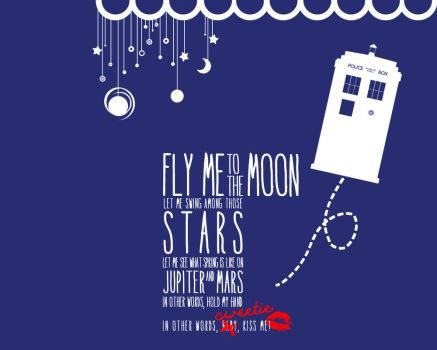 Doctor Who - Fly me to the moon by Cyntilla