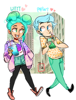 Witty And Poptart In The Town by temporaryWizard