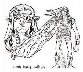 In game JOHNNY by Andrew-Ross-MacLean